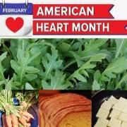 american heart month arugula carrots bread tofu