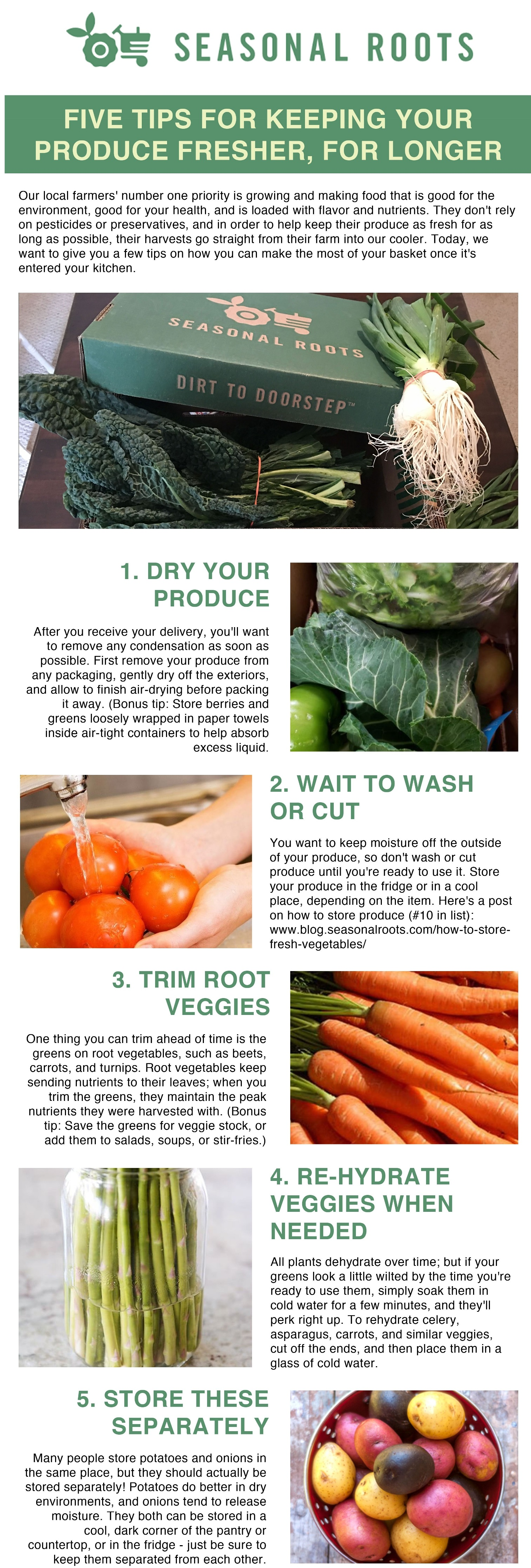 how to keep fresh local food fresh