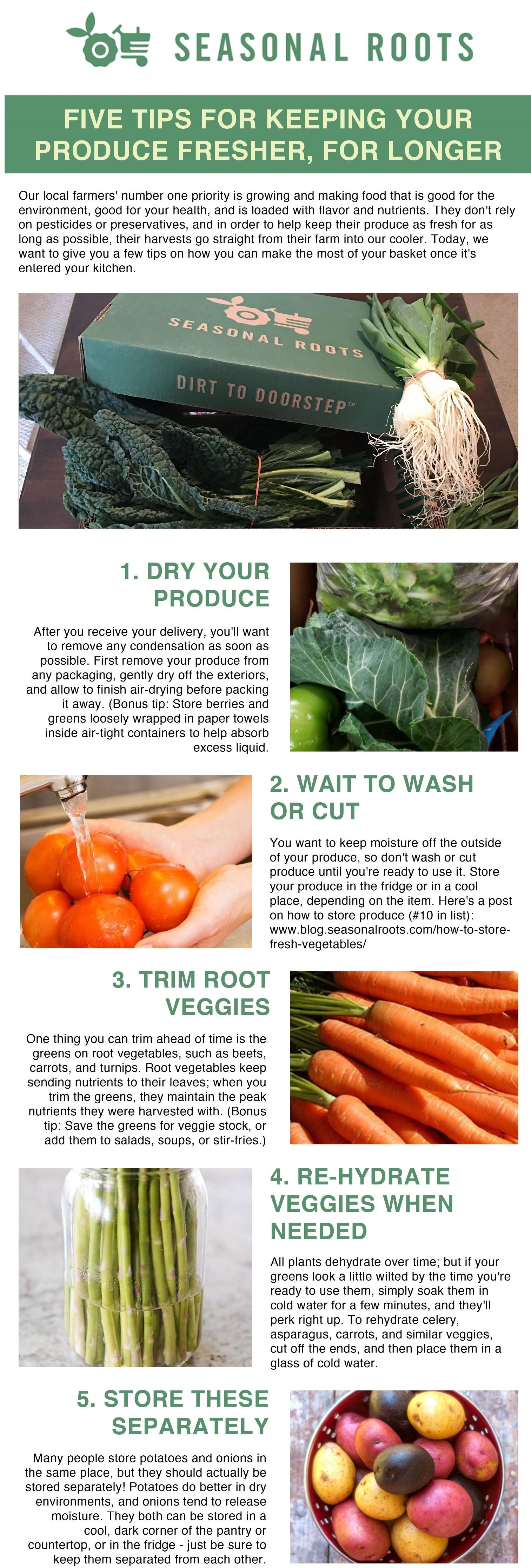 how to keep fresh local food fresh