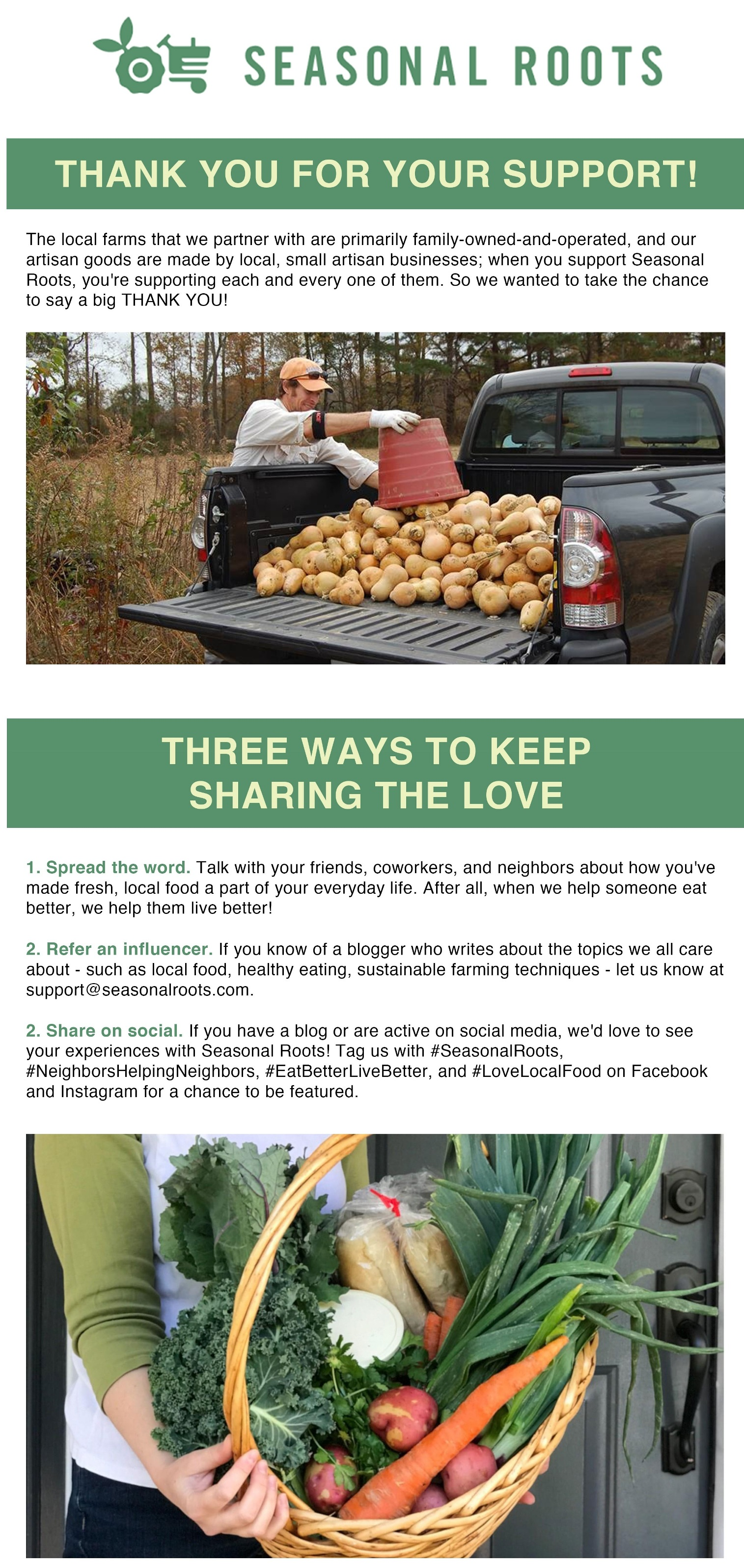 share the love of fresh local food