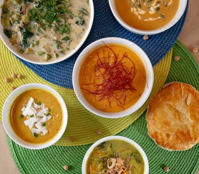 local soup salads sides leek & thistle